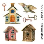 Retro Birdhouses And Keys....
