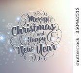 vintage christmas greeting card ... | Shutterstock .eps vector #350462513