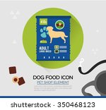 vector icon of dog dry food.... | Shutterstock .eps vector #350468123