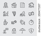 insurance line icon | Shutterstock .eps vector #350477207