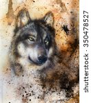 Alsatian Dog  Painting Abstrac...