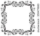 vintage baroque frame scroll... | Shutterstock .eps vector #350479883