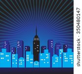 city comic background | Shutterstock .eps vector #350480147