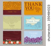 set of universal thank you cards | Shutterstock .eps vector #350484323