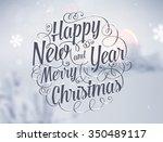 winter background. blurred... | Shutterstock .eps vector #350489117