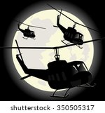 silhouettes of military...