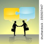 business partnership solution... | Shutterstock .eps vector #350507447
