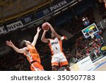 Small photo of VALENCIA, SPAIN - DECEMBER 12th: Tabu with ball during Spanish League between Valencia Basket Club and Montakit Fuenlabrada at Fonteta Stadium on December 12, 2015 in Valencia, Spain