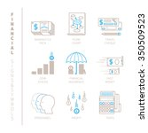 set of vector financial icons... | Shutterstock .eps vector #350509523