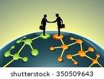 merging business network... | Shutterstock .eps vector #350509643