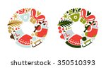 vector illustration of flat... | Shutterstock .eps vector #350510393