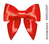 red ribbon with bow on a white... | Shutterstock .eps vector #350512547