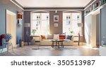 the modern living room interior.... | Shutterstock . vector #350513987