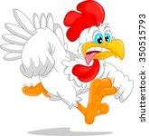cute rooster cartoon | Shutterstock . vector #350515793