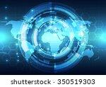 vector digital global... | Shutterstock .eps vector #350519303