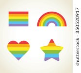 vector rainbow set. gay pride... | Shutterstock .eps vector #350520917