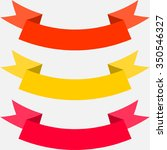 set of colorful ribbons... | Shutterstock .eps vector #350546327