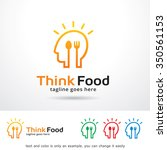 think food logo template design ... | Shutterstock .eps vector #350561153