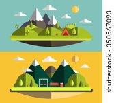 nature mountain landscape | Shutterstock .eps vector #350567093