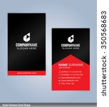 black and red modern business...   Shutterstock .eps vector #350568683