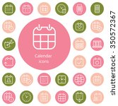 calendar outline  thin  flat ... | Shutterstock .eps vector #350572367