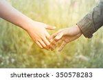 lovers holding hands warm...   Shutterstock . vector #350578283