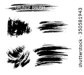vector set of grunge brush... | Shutterstock .eps vector #350581943