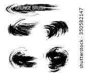 vector set of grunge brush... | Shutterstock .eps vector #350582147