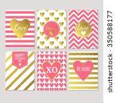 modern creative valentine's day ... | Shutterstock .eps vector #350588177