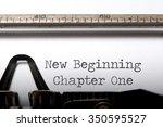 new beginning chapter one  | Shutterstock . vector #350595527