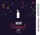 merry christmas  flat icons... | Shutterstock .eps vector #350596223