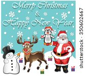 merry christmas and happy new... | Shutterstock .eps vector #350602667