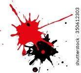 ink splatter background. black... | Shutterstock .eps vector #350612303