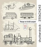 transport. vintage set | Shutterstock .eps vector #350624243