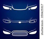 vector graphic set of car head...   Shutterstock .eps vector #350625317