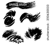vector set of grunge brush... | Shutterstock .eps vector #350630033