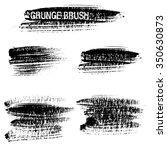 vector set of grunge brush...   Shutterstock .eps vector #350630873