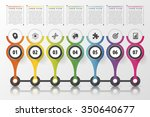 timeline infographics design...   Shutterstock .eps vector #350640677