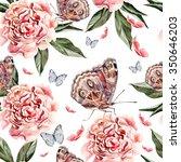 beautiful watercolor pattern... | Shutterstock . vector #350646203