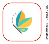 blue butterfly icon   Shutterstock .eps vector #350652107