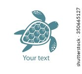 Silhouette Stylized Turtle On...