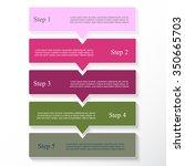 vector lines arrows infographic.... | Shutterstock .eps vector #350665703