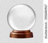 snow globe. big white... | Shutterstock .eps vector #350680967