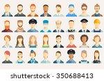 set of avatar icons. | Shutterstock .eps vector #350688413
