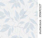 floral seamless pattern vector... | Shutterstock .eps vector #350692127