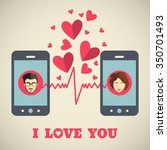 valentine's day card with man... | Shutterstock .eps vector #350701493