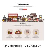 one page web design template... | Shutterstock .eps vector #350726597