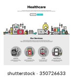 one page web design template... | Shutterstock .eps vector #350726633