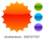 empty badge  price flash.... | Shutterstock .eps vector #350727767