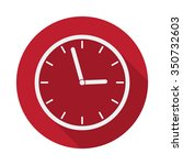 flat clock icon with long... | Shutterstock .eps vector #350732603